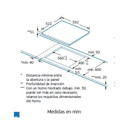 Placa inducción Balay 3EB965LR zona de 28 cm