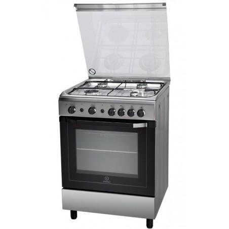Cocina gas Indesit I6GG1F(X)/P inox 85x60cm grill