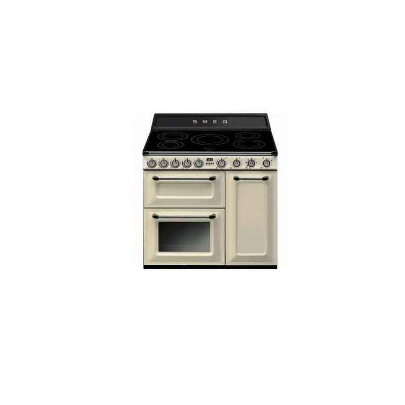 Cocina smeg tr93ip crema 90cm inducci n 2705 iva for Cocinas induccion precios