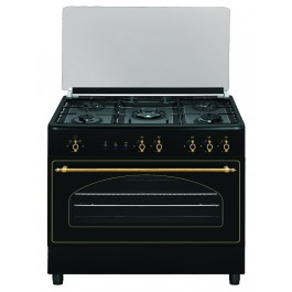 Cocina rústica gas butano Vitrokitchen RU9060B Elegance 90x60