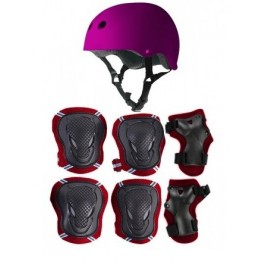 KIT PROTECCION CASCO+EXTRE. ROSA