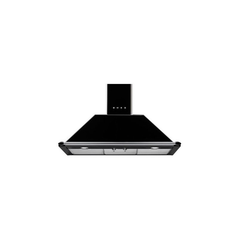 Campana Smeg KT90BLE negro clase A 90cm