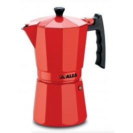 Cafetera italiana Alza luxe rojo 9 Tazas