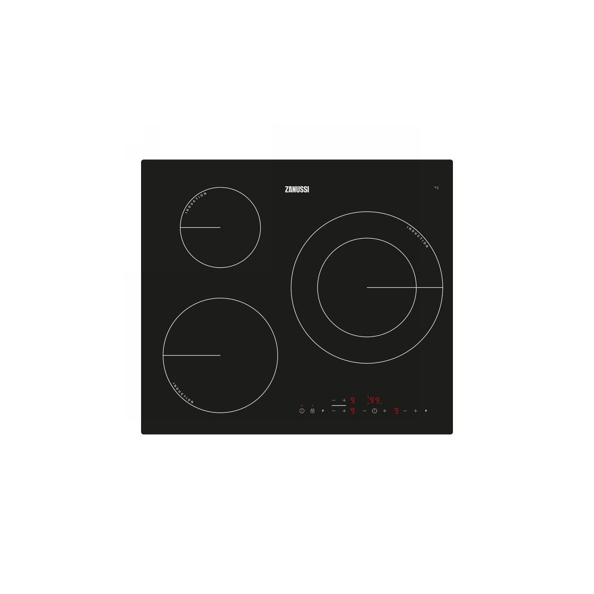 Placa inducción Zanussi ZM6233IOK negro