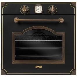 Horno rústico Svan SVH238RN negro 60cm
