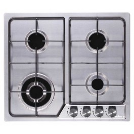 Placa gas natural Edesa EGX6040TIN inox 58 x 50cm