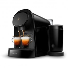 Cafetera express Philips Lm8014/60 L'Or barista negra (Doble Capsula)