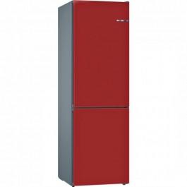 Combi Bosch KVN39IR3A A++ No Frost 203cm rojo cereza
