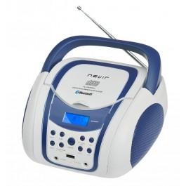 Radio CD BLUETOOTH Nevir NVR-483UB Azul