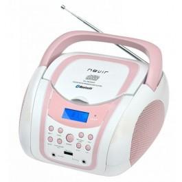Radio CD Nevir bluetooth NVR-483UB rosa/blanco