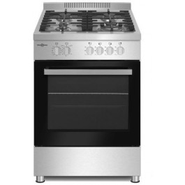 Cocina Vitrokitchen Pf6060ib 4fuegos Gas butano 60x60 inox