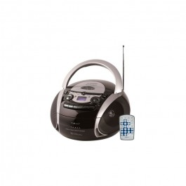 Radio Cd Cassette Nevir Nvr482u negro/plata