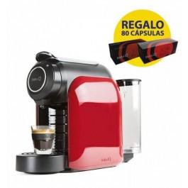 Cafetera Cápsulas Delta Q QOOL Evolution 1200w Rojo + 80 cafés