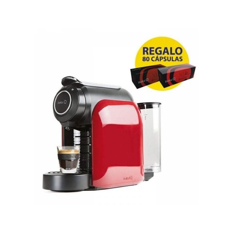 Cafetera Delta Q QOOL Evolution 1200w Rojo + 80 cafés