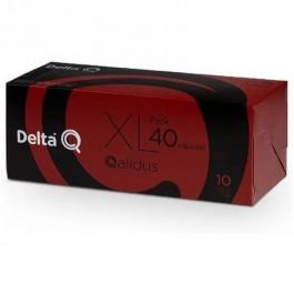 Caja de 40 cápsulas de café DELTA QALIDUS - INTENSIDAD 10 Compatibles con cafeteras Delta