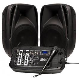 Sistema de altavoces con mesa de mezclas INFINITON DJ-M300 - 2x 100W