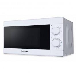 Microondas sin grill mecánico de 20 litros color blanco con una potencia de 700W