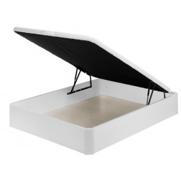 Canapé abatible de madera Blanco 160x190 cm