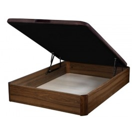 Canapé abatible de madera Nogal 80x180 cm