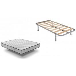 Somier de lamas Basic + Colchón Confort Plus 80x200 cm