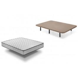 Base tapizada + Colchón Confort Plus 105x190 cm