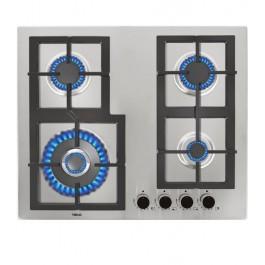 Placa de gas con de 60 cm 4 quemadores de alta eficiencia