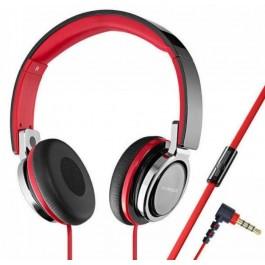Auriculares Diadema Vivanco Sr770 Rojo Negro Con Microfono