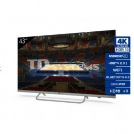 LCD LED 43 TD SYSTEM K43DLX11US UHD 4K SMART ANDROIDTV WIFI USB HDMI PLATA