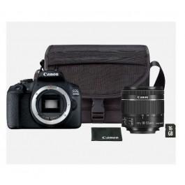 CAMARA REFLEX EOS 2000D+OBJETIVO 18-55+FUNDA+16GB