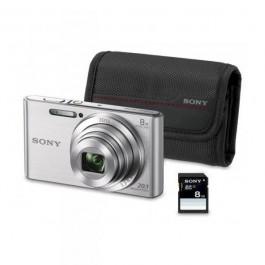 Sony: Camara fotos DSCW830S PLATA + bolsa + SD8GB