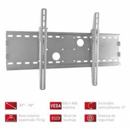 Soporte pared TV Fonestar STV656P, plata, inclinag
