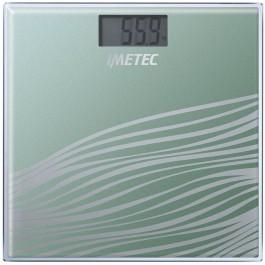 Báscula de baño IMETEC BS4 500 cuadrada, vidrio templado, color verde