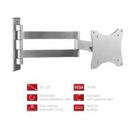 Soporte pared TV Fonestar STV648P, plata, orientai