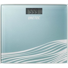 Báscula de baño Imetec BS5 500 LCD, 28.6 x 74, Azul
