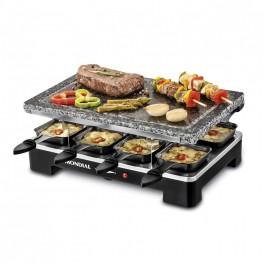 Parrilla Grill Mondial Le Gourmet Stone Grill SG-01 Con Piedra Natural 8 Sartenes 1400W