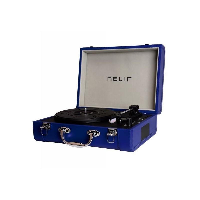 Giradiscos NEVIR NVR804 Azul MP3