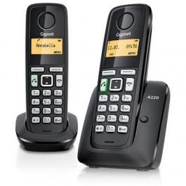 Teléfono duo Gigaset inalambrico A270DUO negro