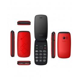 Teléfono concha OSIRIS 2.4\'+1.8\' Rojo