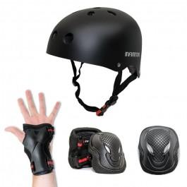 Kit de protección Infiniton 091129 4 piezas Negro
