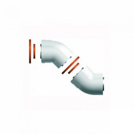 Caldera Condensación Ariston 3318092 Codo Coaxial D80/125 M/H 45