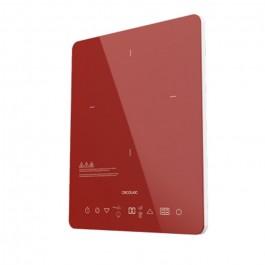 Placa de induccion Full Crystal Scarlet Color Granate  CECOTEC 8014