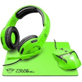 Kit Multimedia Trust GXT 794SG Spectra Mouse Auriculares Pad Gaming Verde