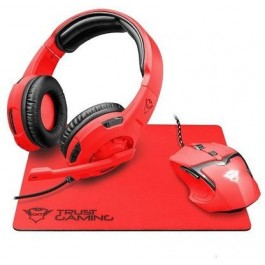 Kit Multimedia Trust GXT 790SR Spectra Mouse Auriculares Pad Gaming Rojo