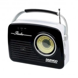 Radio Retro Daewoo DRP-130B Negro