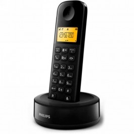 Teléfono Philips D1601B SINGLE sobremesa negro