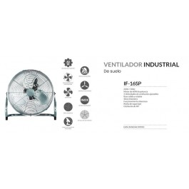 Ventilador industrial IF-16SP plata 40cm