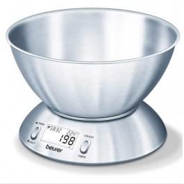Báscula de cocina con tazón de acero inoxidable Beurer KS54