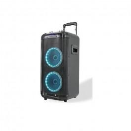 """ALTAVOZ PORTATIL DENVER TSP450 30W. TROLLEY, BLUETOOTH, RANURA PARA USB Y MICROSD, 2 WOFERS 10""""+ TWEETER 3"""", RADIO FM"""