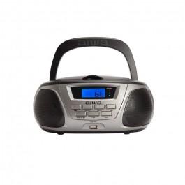 Radio CD Aiwa BBTU300BK Gris Bluetooth