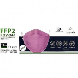 Caja 10 uds Mascarilla FFP2 3 Cuerpos Rosa